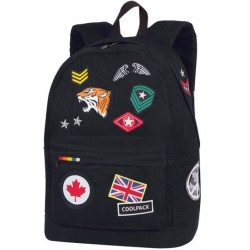 Plecak miejski CoolPack CP CROSS BADGES BLACK
