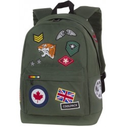 Plecak miejski CoolPack CP CROSS BADGES GREEN