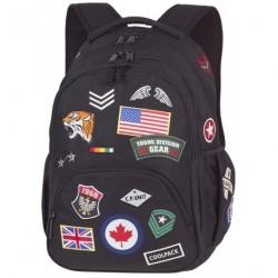 Plecak młodzieżowy CoolPack CP BENTLEY BADGES BLACK