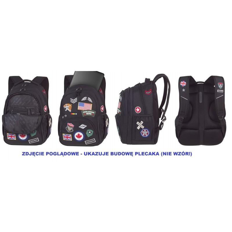 1764da7900628 Plecak młodzieżowy CoolPack CP BENTLEY BADGES GREY - Cool-pack.pl