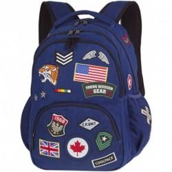 Plecak młodzieżowy CoolPack CP BENTLEY granatowy z naszywkami BADGES NAVY