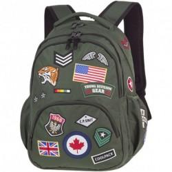 Plecak młodzieżowy CoolPack CP BENTLEY zielony z naszywkami BADGES GREEN