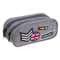 Saszetka dwukomorowa CoolPack CP CLEVER BADGES GREY