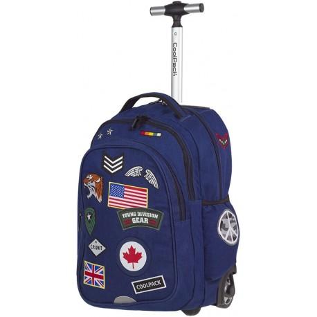 Plecak na kółkach CoolPack CP JUNIOR BADGES NAVY A410