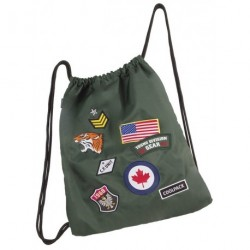 Worek na sznurkach / na buty CoolPack Sprint Badges Green z naszywkami - zielony