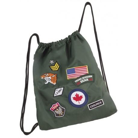 Worek CoolPack Sprint Badges Green