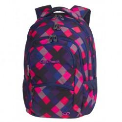 COLLEGE Plecak do szkoły krata CoolPack CP - ELECTRIC PINK 28L - 5 przegród - A520