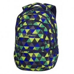 COLLEGE Plecak do szkoły dla chłopaka niebieski zielony szary w trójkąty PRISM ILLUSION CoolPack CP - A502