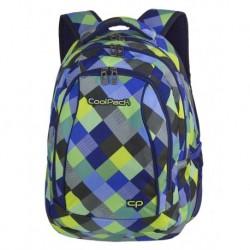 Plecak młodzieżowy CoolPack CP COMBO BLUE PATCHWORK w kolorową kratkę - 2w1 - A499
