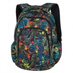 PRIME Plecak do szkoły CoolPack CP - dla chłopca wolny kolorowy skatepark grafiti FREE STYLE 23L - A179 + COOLER BAG gratis!