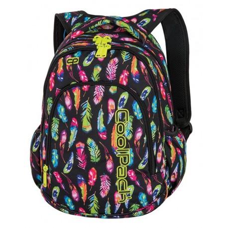 PRIME Plecak do szkoły CoolPack CP - dla dziewczynki niezwykłe kolorowe pióra FEATHERS 23L - A233 + COOLER BAG gratis!