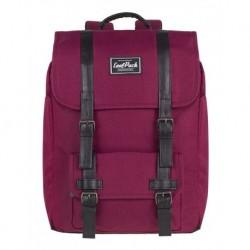 Plecak miejski CoolPack CP TRAFFIC BURGUNDY wiśniowy vintage na laptop - A129