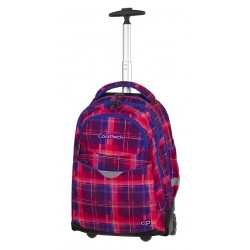 Plecak na kółkach CoolPack CP RAPID MELLOW PINK różowy w kratkę A510 + GRATIS