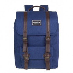 Plecak miejski CoolPack CP TRAFFIC NAVY BLUE granatowy vintage na laptop - A131