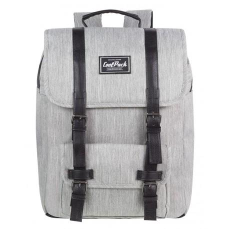 Plecak miejski CoolPack CP TRAFFIC GREY szary vintage na laptop - A130