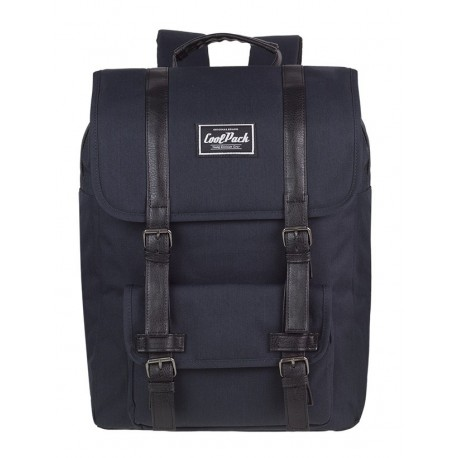 Plecak miejski CoolPack CP TRAFFIC BLACK czarny vintage na laptop - A132