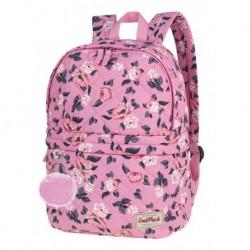 52ac83d897297 Plecak z pomponem CoolPack CP FANNY PINK ROSE GARDEN pikowany różowy w  kwiaty A102