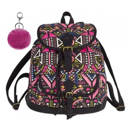 Plecak vintage CoolPack CP FIESTA PINK ETHNIC różowe etno A134 + GRATIS