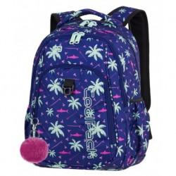 b2e2edd55051c STRIKE Plecak do szkoły CoolPack CP - dla dziewczyny lazur róż palmy rekiny  PINK SHARKS 26L