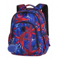 1a9dbeec7682f STRIKE Plecak do szkoły CoolPack CP - dla dziewczyny Hawaje kwiaty czerwień  kobalt HAWAIAN BLUE 26L