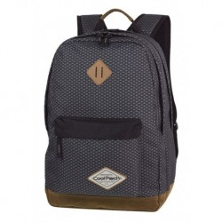 Plecak szkolny CoolPack CP SCOUT DARK GREY NET szary ciemny na laptop A122
