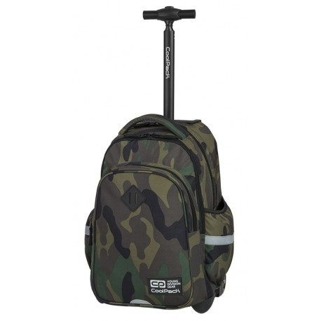 Plecak na kółkach CoolPack CP JUNIOR CAMOUFLAGE CLASSIC klasyczne moro - A388 - Cool-pack.pl