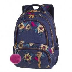 6c1743d81dd00 SPINER Plecak do szkoły CoolPack CP - dla dziewczyny blue jeans kwiaty hit  BLUE DENIM FLOWERS