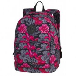56cc9c11f75ee Plecak miejski CoolPack CP CROSS EVA RED & BLACK FLOWERS hiszpańskie kwiaty  - A242
