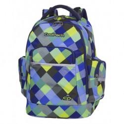0f234b4d8fa9b Plecak młodzieżowy CoolPack CP BRICK BLUE PATCHWORK w kratkę A497