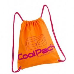 Worek na sznurkach / na buty CoolPack CP SPRINT NEON ORANGE pomarańczowy neon - A457