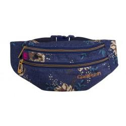Saszetka nerka torba na pas CoolPack CP MADISON BLUE DENIM FLOWERS