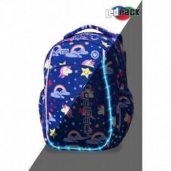Świecący plecak dla pierwszoklasisty CoolPack CP STRIKE S UNICORN jednorożec LEDPACK