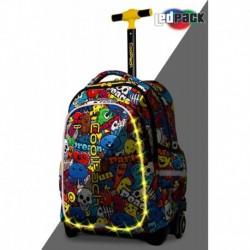 Plecak na kółkach szkolny świecący CoolPack CP JUNIOR CARTOON kreskówka LEDPACK