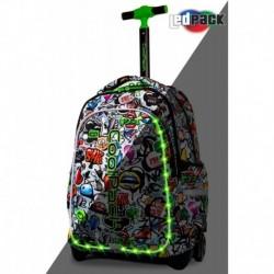 Plecak szkolny na kółkach świecący CoolPack CP JUNIOR GRAFFITI LEDPACK