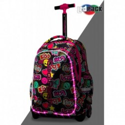 Plecak na kółkach szkolny świecący CoolPack CP JUNIOR EMOTICONS KISS & LOVE