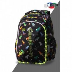Plecak młodzieżowy świecący CoolPack CP JOY M ROCKETS rakiety LEDPACK