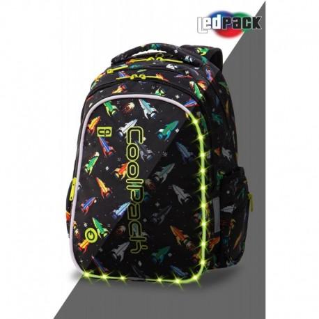 ŚWIECĄCY plecak szkolny CoolPack CP JOY M ROCKETS rakiety LEDPACK - Cool-pack.pl