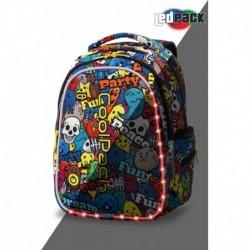 793cda19e8064 Plecak młodzieżowy świecący CoolPack CP JOY M CARTOON kreskówka LEDPACK