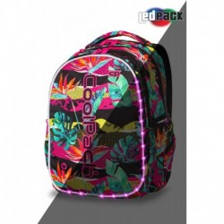 ŚWIECĄCY plecak młodzieżowy CoolPack CP JOY L PARADISE tropikalne liście LED