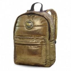 Plecak pikowany z kolekcji zimowej CoolPack CP RUBY GOLD GLAMOUR złoty błyszczący