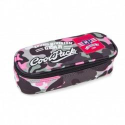 Piórnik / etui CoolPack CP CAMPUS CAMO PINK różowe moro z naszywkami
