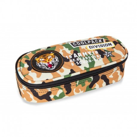 Piórnik / etui CoolPack CP CAMPUS CAMO DESERT pustynne moro z naszywkami - Cool-pack.pl