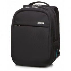 "Plecak męski bagaż podręczny CoolPack RAPTOR BLACK czarny na laptop 15,6"""