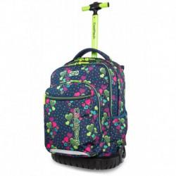 Plecak dla dziewczynki na kółkach CoolPack CP SWIFT LIME HEARTS w serduszka