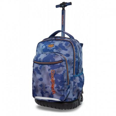 Plecak na kółkach CoolPack CP SWIFT MISTY TANGERINE niebieska mgła - Cool-pack.pl