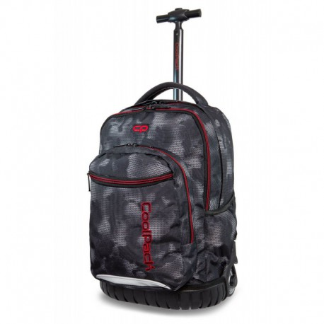 Plecak na kółkach CoolPack CP SWIFT MISTY RED szara mgła dla chłopaka