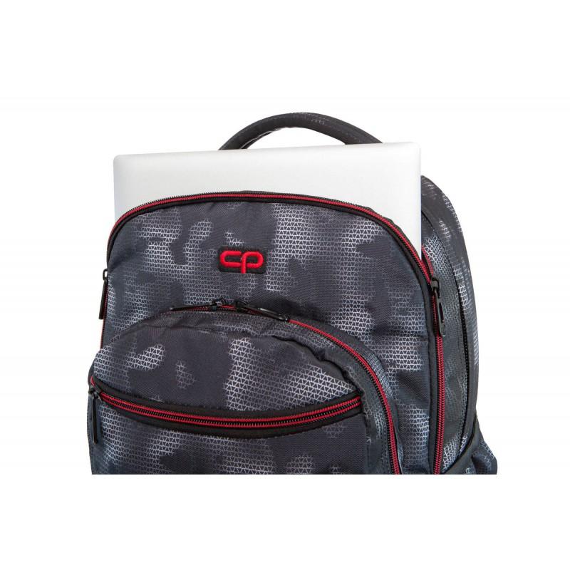 13577cc0fc057 ... Plecak młodzieżowy na kółkach CoolPack CP SWIFT MISTY RED mgła kieszeń  na laptopa ...
