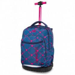 Plecak na kółkach CoolPack CP SWIFT HEART LINK w serca dla dziewczyny