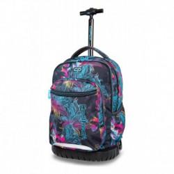 31ad3482945c8 Plecak szkolny na kółkach CoolPack CP SWIFT VIBRANT BLOOM iluzja w kwiaty
