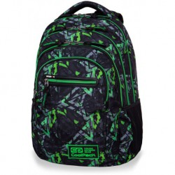 b0b24f63e5ce6 Plecak młodzieżowy CoolPack CP COLLEGE TECH ELECTRIC GREEN zielone  błyskawice - 5 przegród - kieszeń RFID